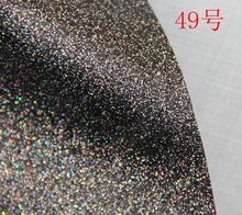49# Multi colored Synthetic PVC glitter leather vinyl fabric material(China)