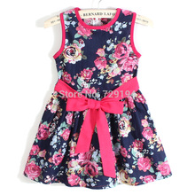 Kids Dresses For Girls Direct Selling Rushed 2017 New Summer Girls Wear Cotton Vest Dress Sweet Girl Princess Evening Party