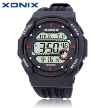 Hot Sale!!! XONIX World Time Men Sports Watches Waterproof 100m Digital Watch Running Swimming Diving Wristwatch Montre Homme(China)