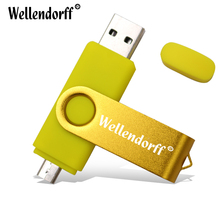 Rotating metal usb flash drive 64G 32G 16G 8G 4G pendrive U disk Thumb memory stick multiple colours free shipping
