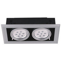 14W recessed LED grille lamp, high power LED light bean pot grid white frame Indoor grille lamps, free shipping(China)