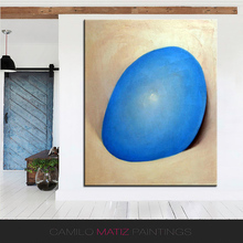 NO FRAME Home Printed rare blue stone STILL LIFE Oil Painting Canvas Prints Wall Art Pictures For Living Room Decorations(China)