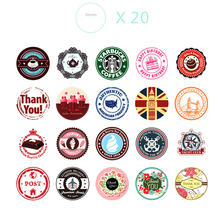 38pcs/set Retro Stickers Notebook Sticker Cake Coffee Decoration Sticker DIY Cool Sticker Cute For Notebook & Laptop Stiker(China)