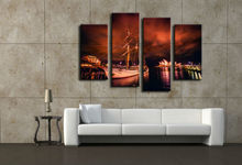 4 Pieces Of Wall Art Sydney Opera House Modern Printing Fashion Art Mural Wall Posters Pictures, Oil Paintings On Canvas nn401