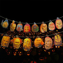 New Halloween Prop Haunted House Decor Torture Tools Bloody Garland Gross FAB Pumpkin Face Bloody(China)