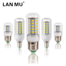 LAN MU Lampada LED Bulb E27 LED Lamp 5730 SMD LED Lights Corn Bulb 24 36 48 56 69 72Leds E14 Chandelier Candle Lighting(China)