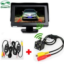 "Free Shipping, Auto Parking Assistance Camera Monitor. Wireless 4.3"" LCD Car Monitor With Rear View Camera"