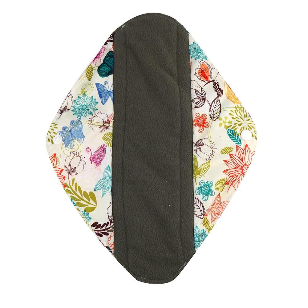 1pc New Arrival Women's Reusable Bamboo Cloth Washable Menstrual Pad Mama Sanitary Towel Pad Pretty Feminine Hygiene Product 20