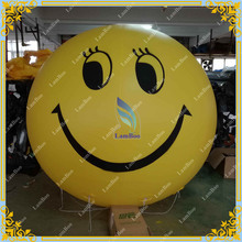 Hot Sale Giant 2 meters Inflatable Smile Sky Balloon, Helium Advertising Sphere Balloon