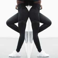 Buy Women Pants Fashion Patchwork Workout Legging Stretch Slim Sportswear Jeggings Activewear High Waist Fitness Leggings for $6.80 in AliExpress store