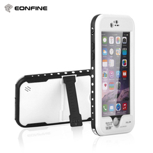 Big Discount Wholesale 10pcs for iPhone 6 plus Waterproof Shockproof Case 360 Full Body Soft TPU Case With Kickstand Cover