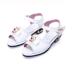 2017 summer new Korean fashion girls sandals princess shoes children's new high heels big children's shoes(China)
