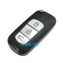 remote control folding key blank case for hyundai elantra tucson sonata santa fe 3 button modified key shell(China)