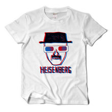 New T-Shirts extravagant division Breaking bad old white spoof naked eye 3D short sleeve t-shirt men and women loose t shirt(China)
