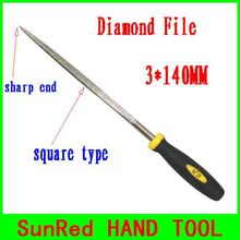 BESTIR taiwan excellent quality 120mesh sharp end square type 3*140MM diamond files for watch/jewelry repair NO.07033