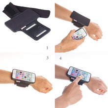 TFY Open Face Sport Armband Wrist Band Holder + Detachable Case for iPhone 5/5S, Black & Black belt - (Directly Touch Screen )(China)