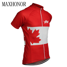 2017 cycling jersey men short sleeve red white mtb jersey road bike jersey cycling top ropa ciclismo Canada uniform maxhonor