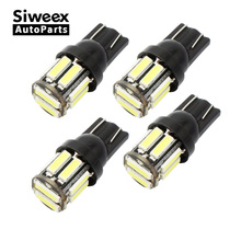 4Pcs 10-7020 SMD Car T10 LED W5W 194 168 2825 Wedge Replacement Reverse T10 White Blue Bulbs For Clearance light bulbs(China)