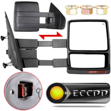 Eccpp Fits 2007 - 2014 Ford F150 Truck Left Right Side Mirror Power Heated Turn Signal Puddle Light Towing Mirrors Pair