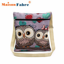 Women New Fashion Retro Embroidered Owl Messenger Bag Ladies Mini Shoulder Bag Female Vintage Cute Crossbody Post Bag Jan18