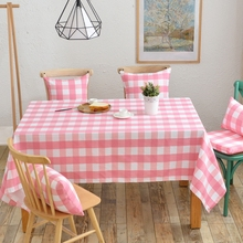 Simple Plaid Table Cloth Design for Rectangle Tables for Decoration Suitable for All Seasons Brief But Useful(China)