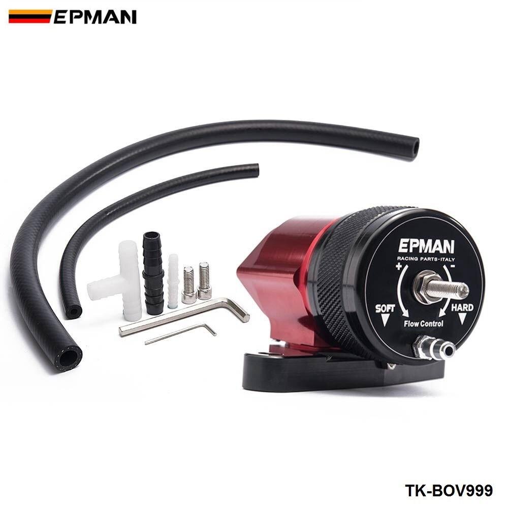 EPMAN Car Sport Intercooler Recirculating Blow Off Valve BOV Kit Red & Black For Subaru STi 01-15 Turbo/Intercooler TK-BOV999