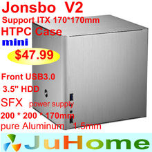 HTPC ITX  Mini case of the computer all aluminum, mini case htpc Home theater multimedia computer, Jonsbo V2, Others V3+ V4