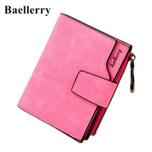 Brand Ladies' Wallets Letter Snap Fastener Zipper Short Clutch Vintage Matte Women Wallet Small Female Purse Short Purse