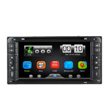 6.95 Inch Car DVD Player In Dash 2 Din Car PC Stereo Head Unit GPS Navigation+Bluetooth+Radio+Multimedia System for Toyota(China)