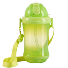Bobei Elephant 260 ML Baby Feeding Bottle PP Plastic Sippy Cup Handle Automatic Straw Non-slip Defence Fall Anti Flatulence(China)