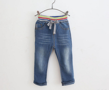 Wholesale 6pcs/lot Baby Boys Denim Jeans Kids Casual Solid Jeans Child Spring Autumn Long Pants High Quality Trousers(China)