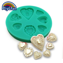 Wedding heart shape Diamond DIY silicone fondant cake molds cake decorating tools chocolate form polymer clay mould F0101AX35