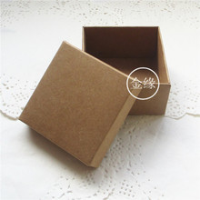 Retail Brown 10Pcs/Lot 9*9+4.5cm Kraft Paper Packing Box For DIY Soap Gift Jewel Package Retro Craft Paper Cardboard Boxes