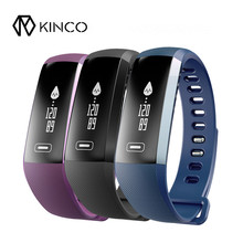 KINCO 2017 Top Sell Heart Rate Blood Pressure Pedomete Activity Tracker Waterproof IP67 Bluetooth Smart Bracelet Wristband(China)