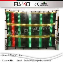 Flyko stage high technology led video display led vision cloth occupation of the world market(China)