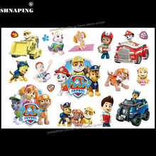 SHNAPIGN PAW Patrol Children Cartoon Temporary Tattoos Sticker Fashion Summer Style Elsa Waterproof Girls Kids Boys Hot(China)
