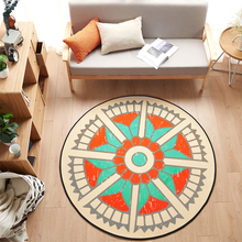 Black and white geometry/Fish/Flower/Triangle/Pattern Round Rug Soft and Non-Slip Living Room Bedroom Carpet Computer Chair Rug(China)