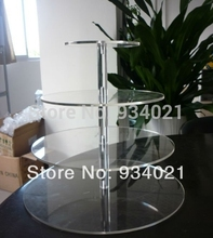 4 Tier Acrylic cupcake and cake tower display stand Party/Wedding/Birthday cake decoration(China)