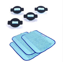 4 Whter Wick Cap + 3 wet Dweeping Mopping cloth pad kit for irobot braava 380t 380 mint 5200 5200c Robot Replacement patrs