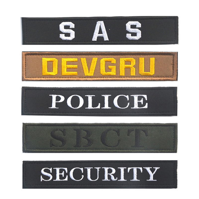 SAS DEVGRU SBCT SECURITY U.S. NAVY ALFA U.S. SOCOM Tactical Morale Armband Patch US Army Military Morale badge Embroidered Patch