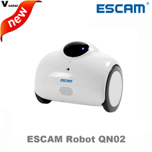 ESCAM Robot QN02 720P wireless ip camera support two way talk/Touch interaction auto charge built in Mic/speaker can move,laugh(China)