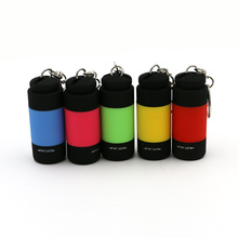 Portable Mini USB Rechargeable Flashlight EDC Pocket Torch 0.3W LED Keychain Light Multicolor USB Handy Lantern Linternas