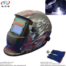 TRQWH Brand Chinese Export Product Customization Decal Helmet with Flame Skull Tig Mig Arc Argon Welding/Welder Cap/Eletric Weld
