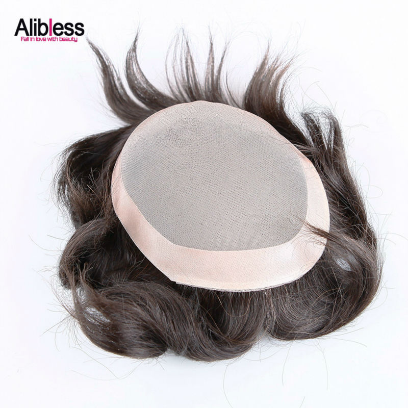 DHL free Stocked Mens Toupee Super Thin base size 6*8inch mono lace and PU Arround 100% real Human hair toupee 8A Top Quality <br><br>Aliexpress