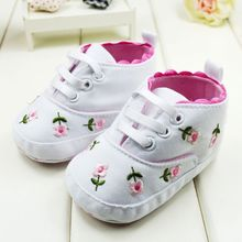 New Cute Embroidered Lace Baby Infant Shoes Kids Girls Toddler Soft Bottom Shoes