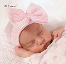 E&Bainel Newborn Spring Baby Hat Big Bow Baby Beanie Infant Girls Cotton Knit Beanie Toddler Newborn Photography Props