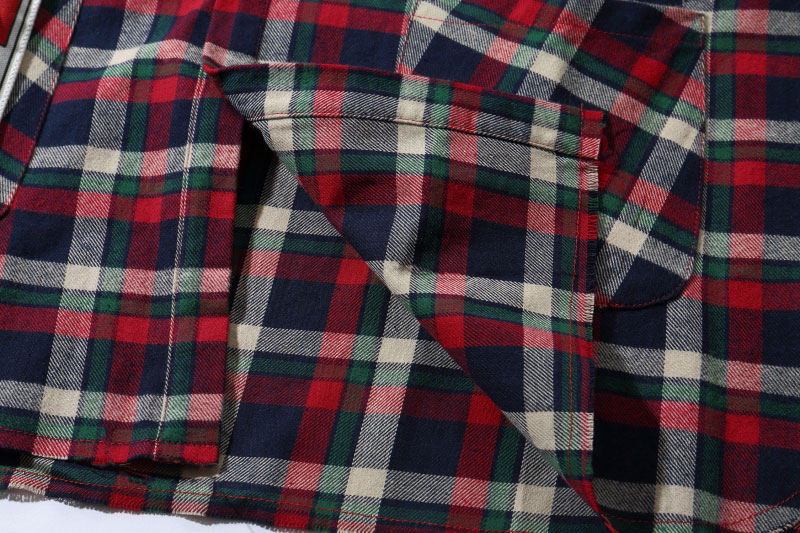 Plaid Patchwork Long Sleeve Shirts 7
