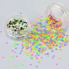 2 Bottle Candy Colors Nail Glitter Round Sequins Set Summer Designs 3d Paillette Stickers Charming Nail Art Flakes Tips SAP40/41