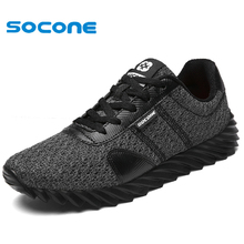 2017 SOCONE comfortable breathable running shoes,super light sneakers men athletic shoes,brand sport shoes running men