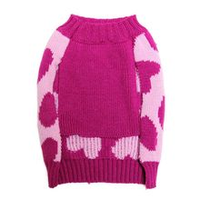 Dog Winter Clothes Rose Red Bow Love Pet Cat Dog Sweater Christmas Pet Coats 2016